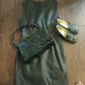 Newport News Dresses - Little Black Leather Dress